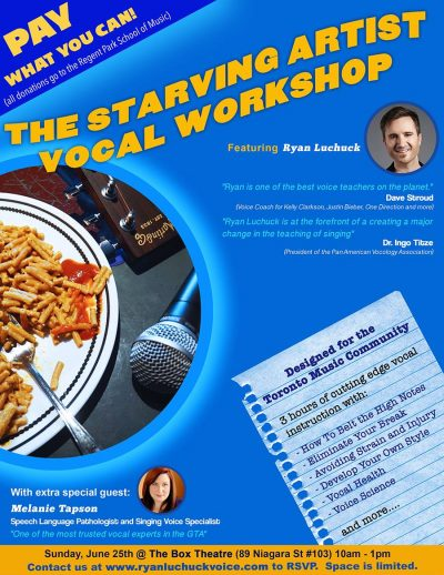 Starving Artist Vocal Workshop